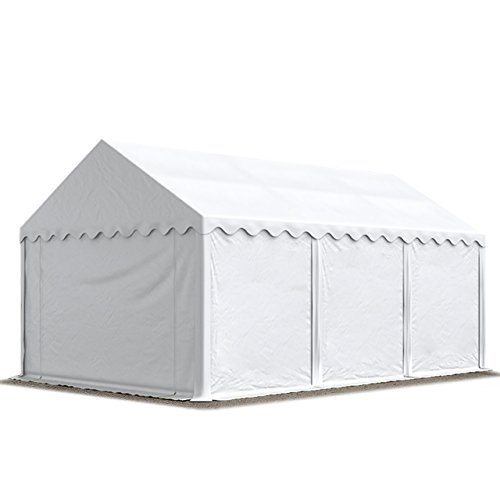 TOOLPORT Storage Tent 4x6 m approx. 500 g/m² PVC 100% waterproof Shed Shelter white