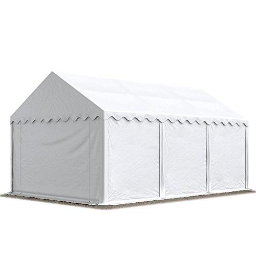 TOOLPORT Lagerzelt Unterstand 3 x 6 m in weiß Weidezelt 500g/m² PVC Plane nach DIN wasserdicht