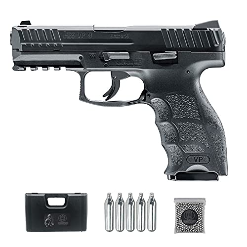 Pistola de balines HK V9 CO2 | Arma de Aire comprimido semiautomática para Boles de Acero BB's Calibre 4,5mm
