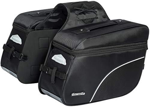Tour Master NC 4 Nylon Slant Street Motorcycle Saddle Bags - Black/Large