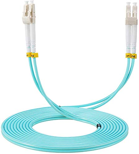 Elfcam Fibra óptica cable LC/UPC a LC/UPC, OM3 Multimodo Duplex 50/125um LSZH,1M