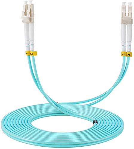 Elfcam Glasfaserkabel LC/UPC zu LC/UPC, OM3, Multimode-Duplex-Glasfaserkabel (50/125 um) LSZH,15M