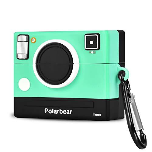 Eigenaar. Compatibel met AirPods Pro Case met Groene Camera en Leuke Siliconen Cartoon 3D Leuke Fashion Cases voor Kids Meisjes Tieners Jongens voor Airpods Pro-(Groene Camera)