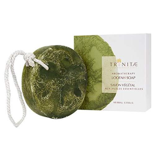 Trinitae Dusch/Körper-Luffa mit Handgeschöpfter Seife Erfrischender Zitrone 01-03-02