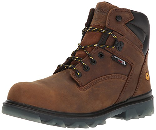 Wolverine Men's I-90 Waterproof Composite-Toe 6' Construction Boot, Sudan Brown, 9.5 M US