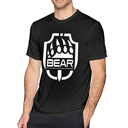 Escape from Tarkov Bear Claw Fashion Mans Comfortsoft Camisas de Manga Corta Muscle Gym Workout Athletic Shirt