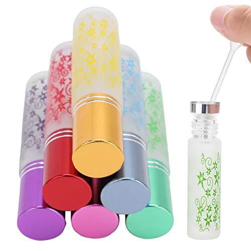 Frascos de perfume, frascos enrollables 10 ml Vaso antifugas vacío para perfume para salón de aceite de aromaterapia