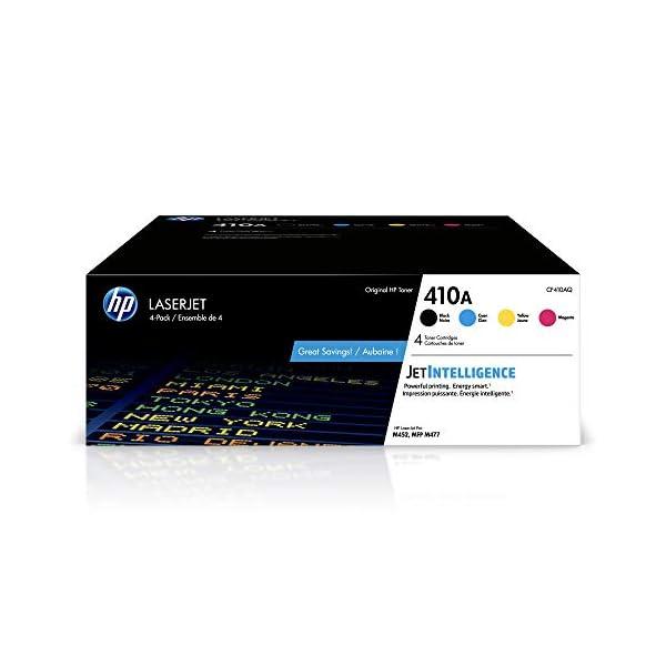 HP 410A | CF410A, CF411A, CF412A, CF413A | 4 Toner Cartridges | Black, Cyan, Magenta,...
