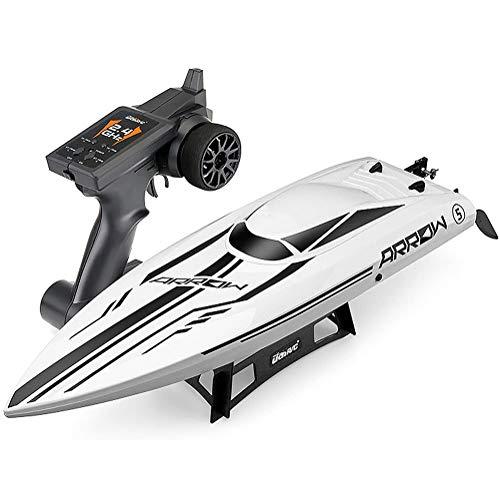 Highspeed RC ferngesteuertes Speedboot mit 2,4GHz digital vollproportional, Selbstaufrichtfunktion, Wasserkühlung, Akkuwarner, Boot Racing Rennboot-Modell mit Top-Speed bis zu 50 km/h