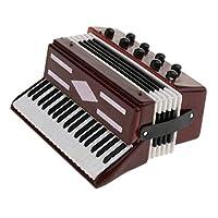 sharprepublic 1/12ミニチュアアコーディオン楽器オフィス装飾オーナメントクラフトギフト