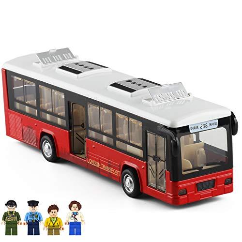 LTOOTA Grande Autobús Juguete Modelo Coche Luz Y