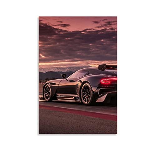 JUEDIN Cool Black Sports Car Posters - Lienzo decorativo para pared (20 x 30 cm)