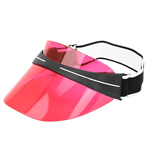 Ruining Sol Superior vacío, Sombrero para el Sol, Lentes de PC Ajustables Flexibles de tamaño Libre para Tomar el Sol y Acampar(23 * 16 * 13cm-Red)