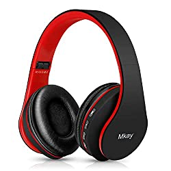 in budget affordable Wireless Bluetooth headphones, MKay V5.0 on-ear headset with microphone, foldable and lightweight, …