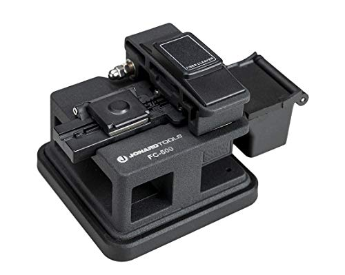 Jonard Tools FC-500 Precision Fiber Optic Cleaver for 250µm and 900µm Fiber Cable with 16 Position Blades