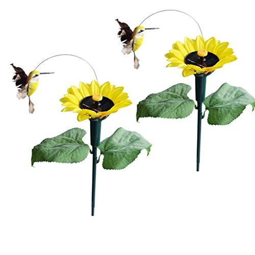 iLory Pack of 2 Solar and Battery Powered Flying Wobble Fluttering...