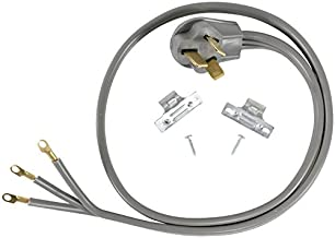 Certified Appliance Accessories 40-Amp Appliance Power Cord, 3 Prong Range Cord, 3 Wires with Eyelet Connectors, 6 Feet, Copper Wire