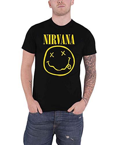Nirvana T Shirt Flower Sniffin Band Logo Nevermind Nouveau Officiel Homme Size L