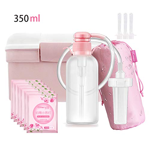 Portable Travel Bidet Fles, 350Ml Voor Persoonlijke Hygiëne Care Met 3 Flushing Heads + 1 Storage Box + 6 Baking Soda, Extra Lang Puntsproeier Spray Voor Vrouwen