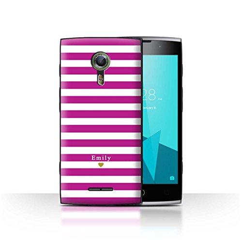 Stuff4Phone Case/Cover/Skin/alcf2/Custom Stripes/Striped Collection Coeur/Fuchsia Rose