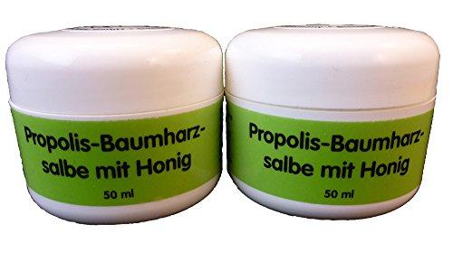 Propolis Baumharz Salbe mit Honig 50 ml von Bienen Diätic 2 Stück