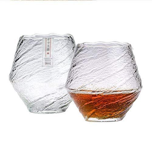 Nobrannd Glass Household Whiskey Glass Spirits Niche Simple Glass Water Glass Suitable For Home Use (Color : Photo Color, Size : 420ml)