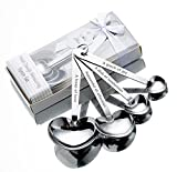 30 Packs Love Design Heart Shape Measuring Spoon Set for Bridal Shower Favors Wedding Favors,Gifts, Decorations and Souvenirs for Guests with Individual Gift Package (30)