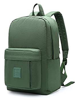 HotStyle 599s Simple Backpack Classic Bookbag with Multi Pockets Durable for School & Travel Hunter Green