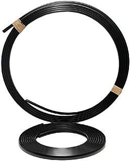 Barbour Plastics Black 1 1/2 In x 37 Ft Precut Semi Rigid Boat Rub Rail w/ Insert Kit