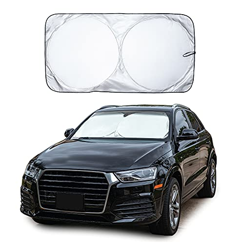 EcoNour Car Windshield Sun Shade with Storage Pouch |...