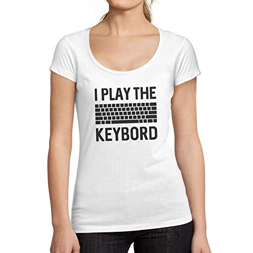 Ultrabasic - Gráfico de Mujer Gamer Keyboard Camiseta Esports Regalo Idea tee Blanco