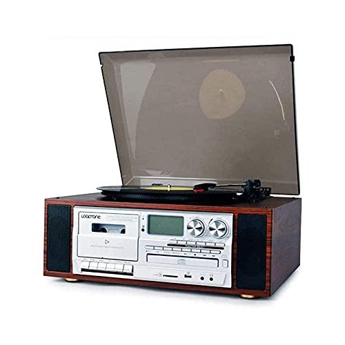 Moderno Giradischi in Vinile LP Decorazione Soggiorno in Stile Europeo Vecchio Stile retrò Fonografo CD Tape Radio Registratore Audio Bluetooth