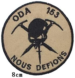 2nd Battalion, 1st Special Forces Group ODA 153 SFODA Team Military Patch Fabric Embroidered Badges Patch Tactical Stickers for Clothes with Hook & Loop