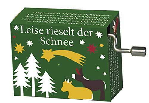 Fridolin Spieluhr Leise rieselt der Schnee Minidrehorgel Weihnachtslied