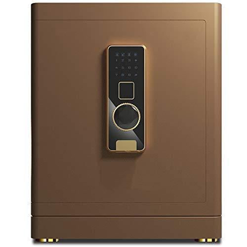 Zhengowen Caja Fuerte Huella Digital Caja de Seguridad y rectángulo del Bloqueo armarios de Acero de construcción Safe Home Office Pared montado en el Piso Cajas de Seguridad para el hogar