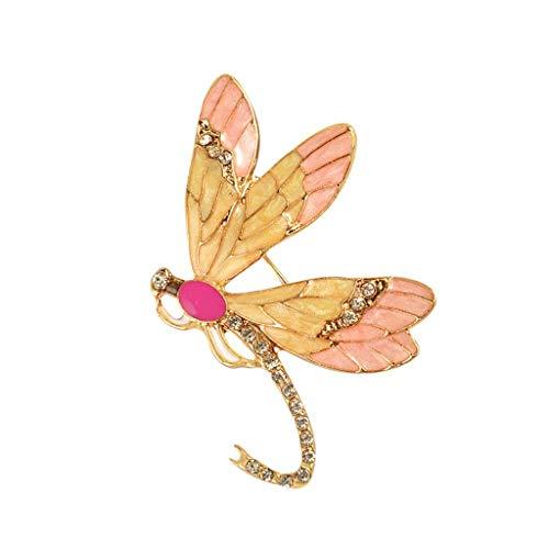 SSMDYLYM Broche de la libélula - Pin Hombres y Mujeres Salvajes Accesorios Regalo Creativo (5.9 * 4 cm)