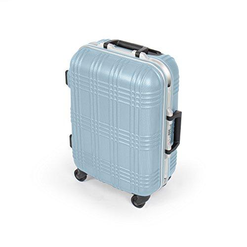 MasterGear Hartschalen Handgepäck Koffer mit Aluminium Rahmen in blau | Größe S: (53 x 39 x 20 cm) | Trolley mit 4 Rollen | Reisekoffer, ABS, TSA, für zahlreiche Fluggesellschaften geeignet