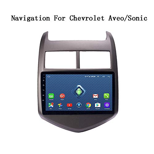 HWENJ Android 8.0 2+32G 9 Inch 3G 4G WiFi Car DVD Multimedia GPS Navigation System for Chevrolet Aveo/Sonic 2011-2013 Support SWC RDS