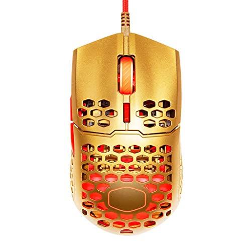 YU-HELLO _MM711 Honeycomb Shell Gaming Mouse 16000 DPI Pixart PMW 3389 Sensor óptico RGB