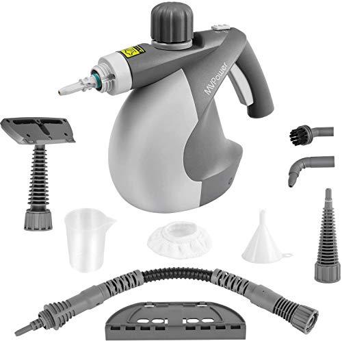 MVPower Portatile a Portatile, Pulitori a Vapore Multiuso 350 ml, uso per Cucina, Bagno, Pavimento, Finestre.