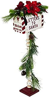 New Creative Letters to Santa Mailbox with Lighted Garland