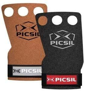 PICSIL Raven Grips 3H - Handschuhe und Gymnastikgriffe für Crosstraining, Muskelaufbautraining, Klimmzüge, Gewichtheben, Klimmzüge, Fitnesstraining (Braun, L)