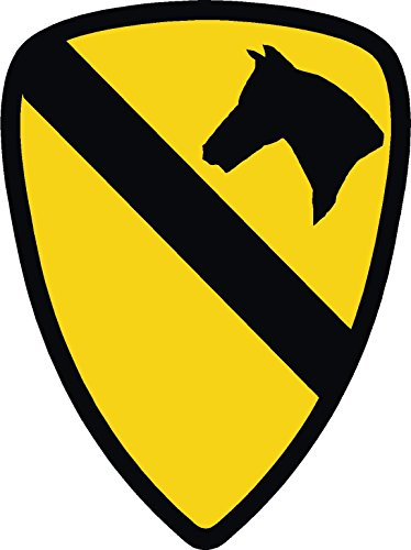 ExpressDecor (3) us Army 1st Cavalry 2x1 Size - Stickers for constrution Hard hat pro Union Working Men Lunch Box Tool Box Symbol Window Motorcycle Biker car - Made and Shipped in USA