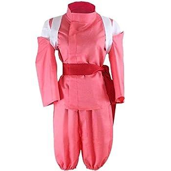FTFDTMY Japanese Anime Spirited Away Cosplay Costumes Ogino Chihiro Cosplay Costumes Girls Cute Pink Kimono Cosplay Costumes Halloween,M