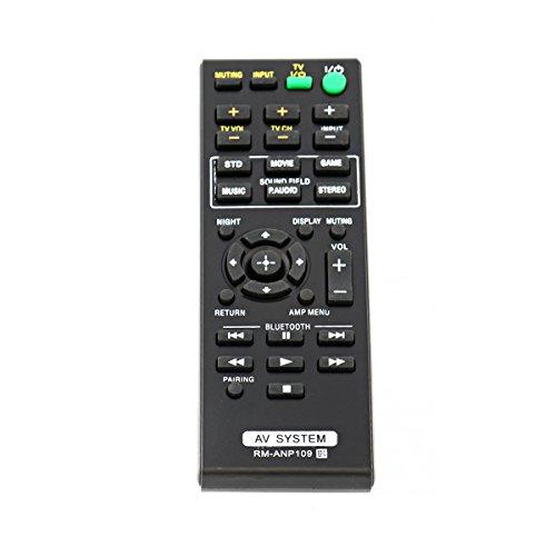 VINABTY RM-ANP109 Télécommande de rechange pour barre de son Home Cinéma Sony Pn1h HT-CT260 HT-CT260C HT-CT260W HT-CT260H HT-CT260H HT-CT260HP SA-CT260 SA-CT260H SA-WCT260H