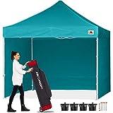 ABCCANOPY Pop-Up Pavillon Festival Sonnenschutz mit 4 Seitenteilen 2.5x2.5M Kommerzielle -Serien,Türkis