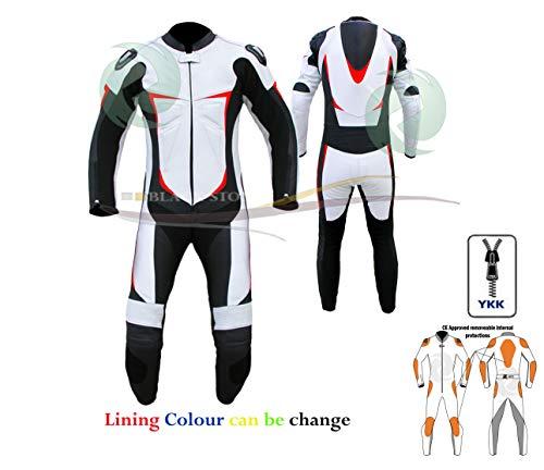 ZENS Leder Ce Rüstung Schutz Multi Color Motorrad Lederanzug für Männer/Frauen in Premium-Qualität Leder in alle Größe/die Farbe der (2XL)