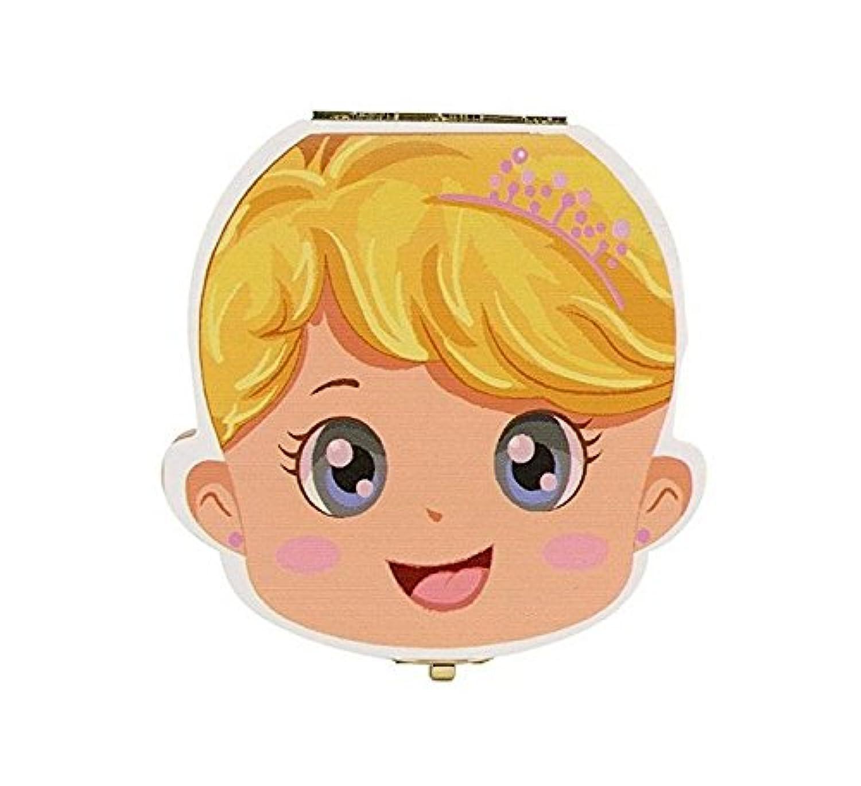 キッズ歯のキープセイクボックス、木の落葉歯のコレクションストレージのお土産ボックスケース、子供、子供のためのスペイン語(ボーイ)