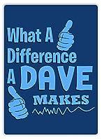 違いは、デイブはレトロヴィンテージ金属サイン壁ホームルームドアサインになります
