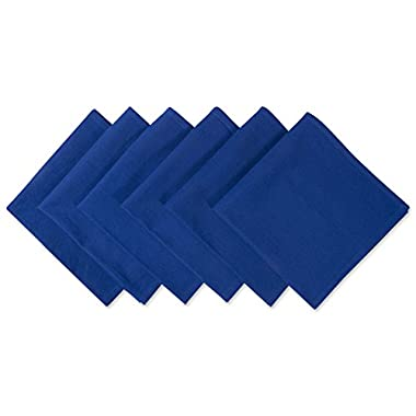 DII 100% Cotton Cloth Napkins, Oversized 20x20 Dinner Napkins, For Basic Everyday Use, Banquets, Weddings, Events, or Family Gatherings - Set of 6, Nautical Blue